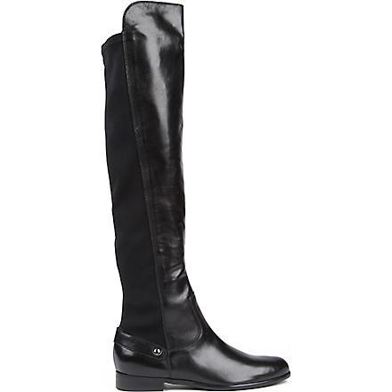 CARVELA Wood over-the-knee boots (Black