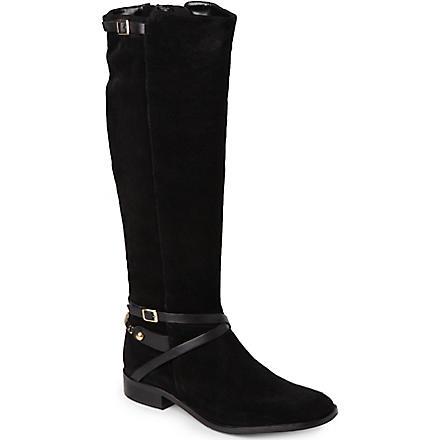 CARVELA Winner suede riding boots (Black