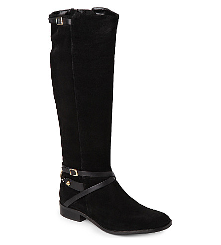 CARVELA Winner suede riding boots (Black
