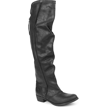 KG BY KURT GEIGER Wentworth leather riding boots (Black