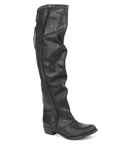 KG KURT GEIGER Wentworth leather riding boots (Black