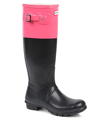 HUNTER Original colour-block wellies (Blk/other