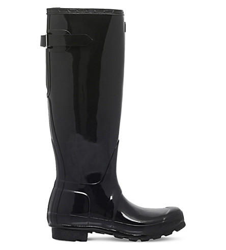HUNTER Original gloss wellies (Black