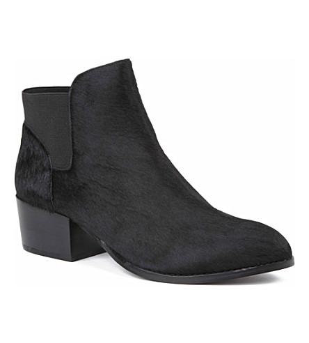 KG KURT GEIGER Scout ponyskin Chelsea boots (Black