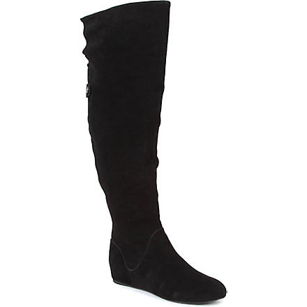 KG BY KURT GEIGER Theory suede over-the-knee boots (Black