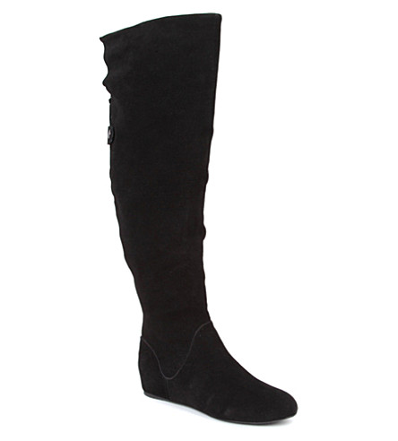 KG KURT GEIGER Theory suede over-the-knee boots (Black