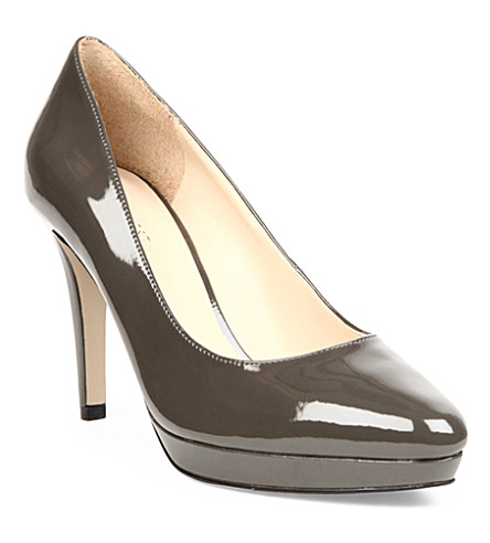 NINE WEST Beautie patent leather courts (Grey