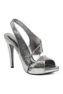 NINE WEST Joansa metallic leather sandals
