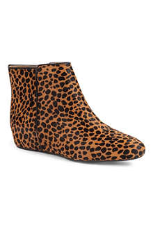 NINE WEST Metalina ponyskin wedge ankle boots