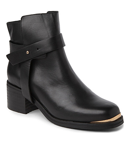 CARVELA Swap leather ankle boots (Black