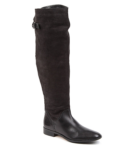 CARVELA Was leather riding boots (Black