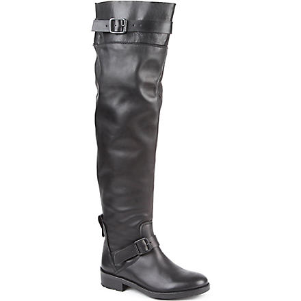 KG BY KURT GEIGER Vince leather riding boots (Black