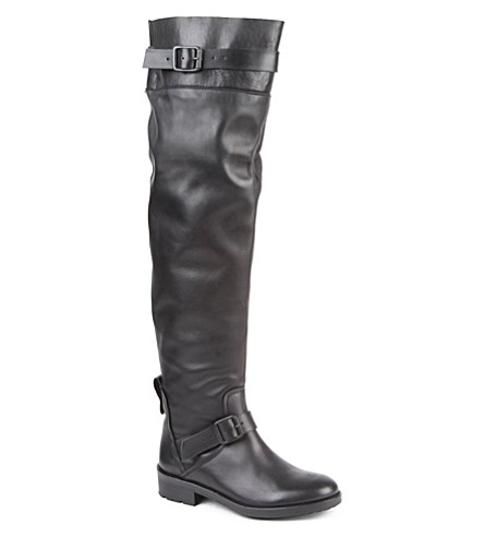 KG KURT GEIGER Vince leather riding boots (Black