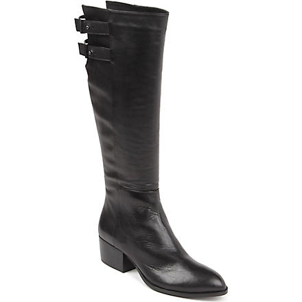 KG KURT GEIGER Valentina leather knee-high boots (Black