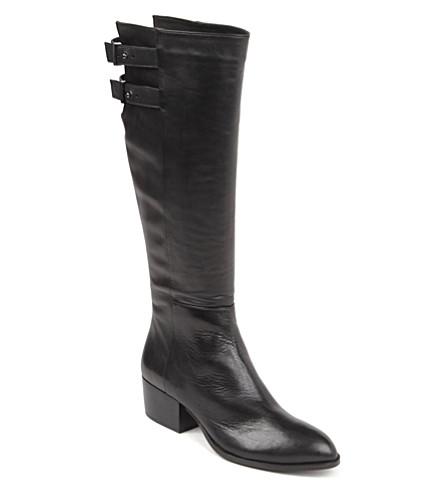 KG KURT GEIGER Valentina leather knee-high boots (Black