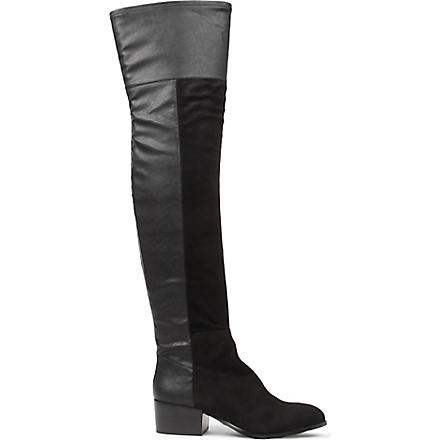 KG KURT GEIGER Vanessa leather over-the-knee boots (Black