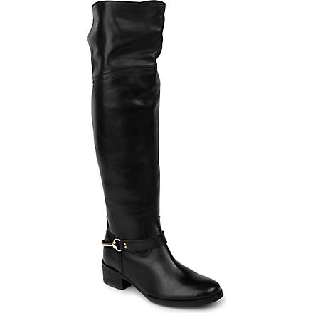 CARVELA Water leather riding boots (Black