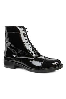 KG BY KURT GEIGER Scamp patent-leather ankle boots