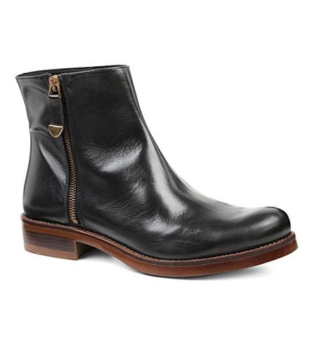 KG KURT GEIGER Sadie leather ankle boots (Black