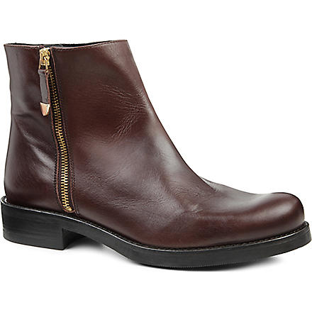 KG KURT GEIGER Sadie leather ankle boots (Brown