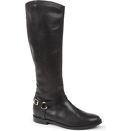 KG KURT GEIGER Victory leather riding boots (Black