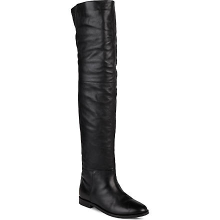 KG BY KURT GEIGER Vantage leather knee-high boots (Black