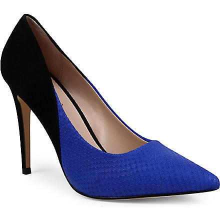 CARVELA Ash two-tone court shoes (Blk/blue
