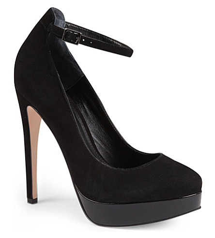 CARVELA Assign suede Mary Jane courts (Black