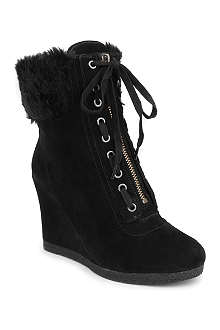 NINE WEST Bayla suede wedge ankle boots