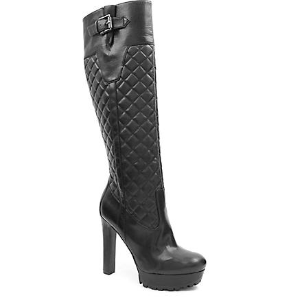 NINE WEST Hennie knee-high quilted boots (Black