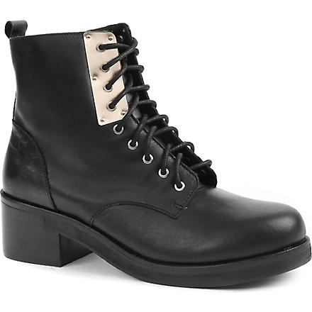 KG KURT GEIGER Truce leather ankle boots (Black