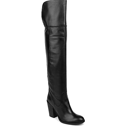 CARVELA Wink leather over-the-knee boots (Black