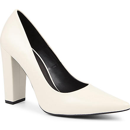KG BY KURT GEIGER Belle leather courts (Bone