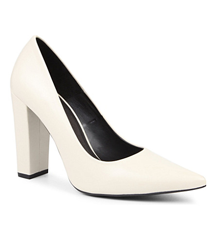 KG KURT GEIGER Belle leather courts (Bone