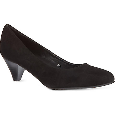 CARVELA Amount suede court shoes (Black