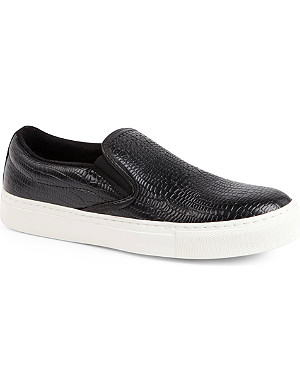 KG KURT GEIGER Londres leather plimsoles