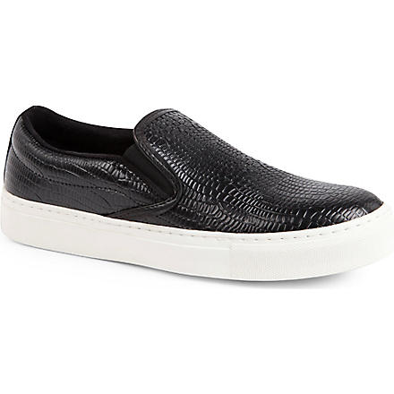 KG BY KURT GEIGER Londres leather plimsoles (Black