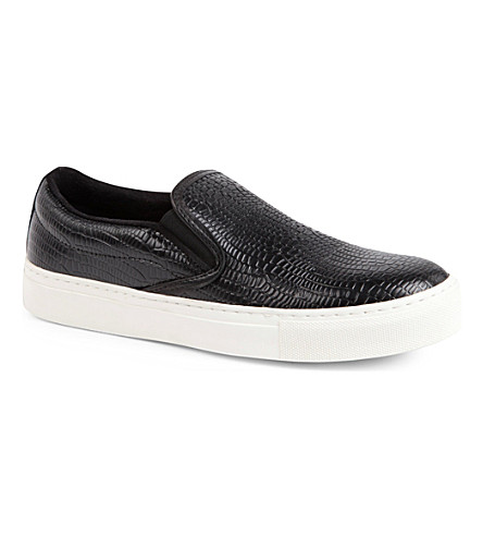 KG KURT GEIGER Londres leather plimsoles (Black