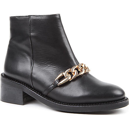KG KURT GEIGER Strike leather ankle boots (Black