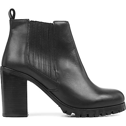 KG BY KURT GEIGER Star leather ankle boots (Black