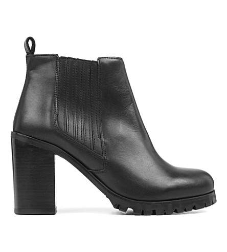 KG KURT GEIGER Star leather ankle boots (Black
