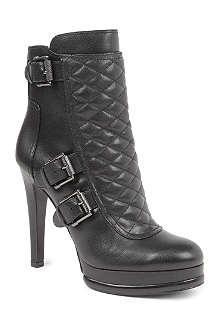 NINE WEST Aspida leather ankle boots
