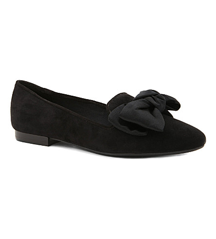 NINE WEST Luxah bow slippers (Black