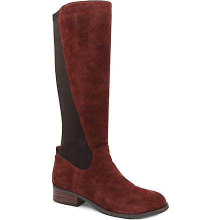 NINE WEST Partay suede knee-length boots (Brown