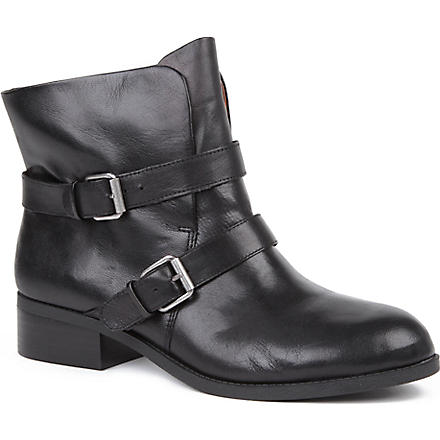 NINE WEST Pippy leather ankle boots (Black