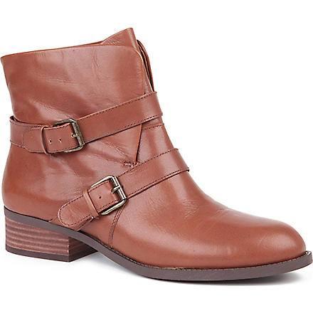 NINE WEST Pippy leather ankle boots (Tan