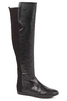 NINE WEST Teggy leather over-the-knee boots