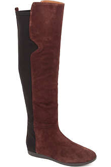 NINE WEST Teggy suede over-the-knee boots