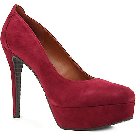 NINE WEST Chelsa suede court shoes (Wine
