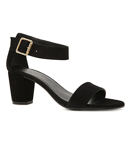 KG KURT GEIGER Nina suede sandals (Black/comb